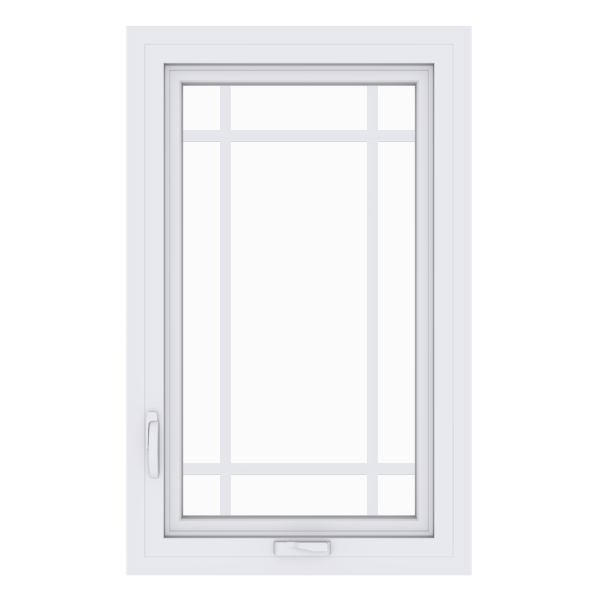 Anlin casement window with perimeter grids