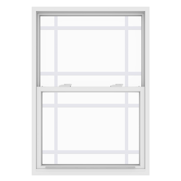 Anlin single hung window with queen anne grids