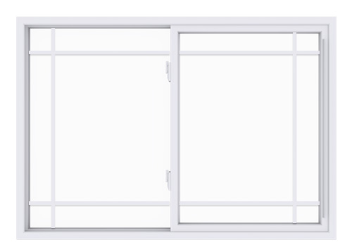 Anlin single slider window with perimeter grids