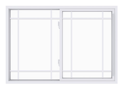 Anlin single slider window with queen anne grids
