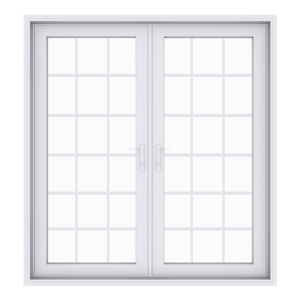 Anlin swinging French door with colonial grids