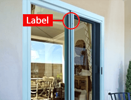 Anlin order number - sliding patio door